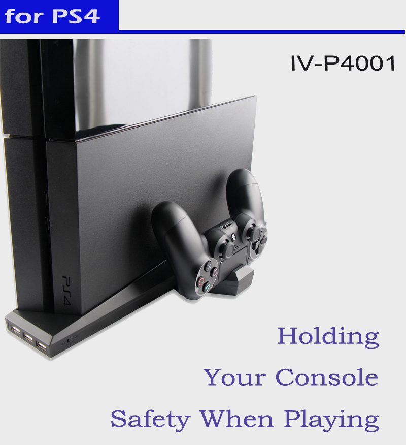7-in-1 Compatible for ps4 console and controller charging stand