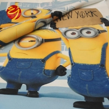100% Polyester custom lovely Cartoon digital printing brushed fabric for home bedding use