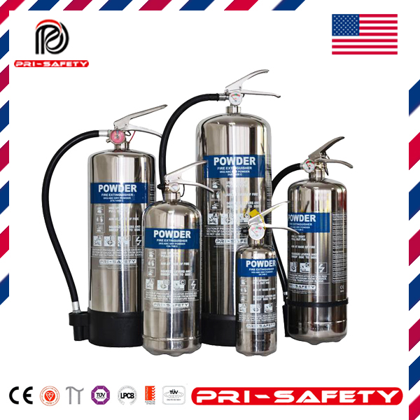CE Approved Stainless-Steel ABC Dry Chemical Powder Fire Extinguisher
