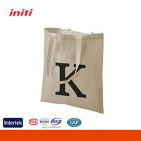 2016 INITI Fashion Quality canvas tote bag with outside pockets