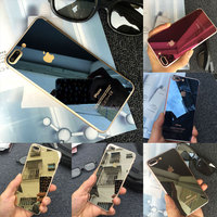 Professional Manufacturing Best Electroplating Mirror effect color mobile tempered glass screen protector for iPhone 7