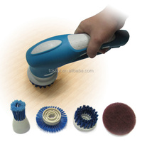 Electric rotating cleaning brush, battery operated cleaning brush