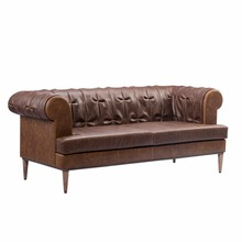 Vintage Chesterfield Sofa with Genuine Leather for Living Room <strong>Furniture</strong>