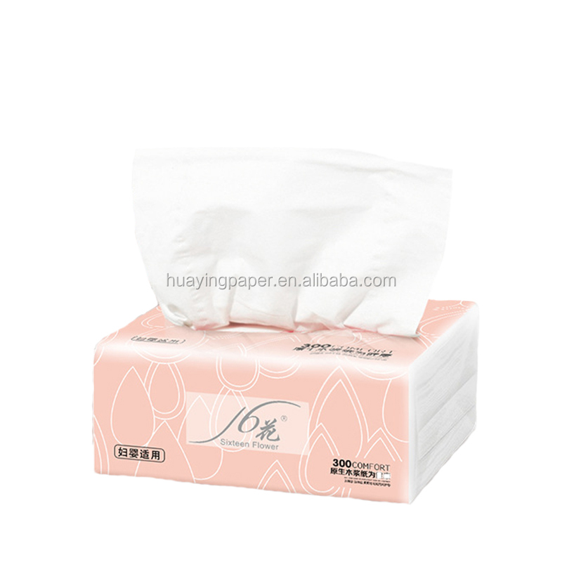 China supplier high quality Soft Pack Tissue Virgin Wood Pulp Facial Tissue paper