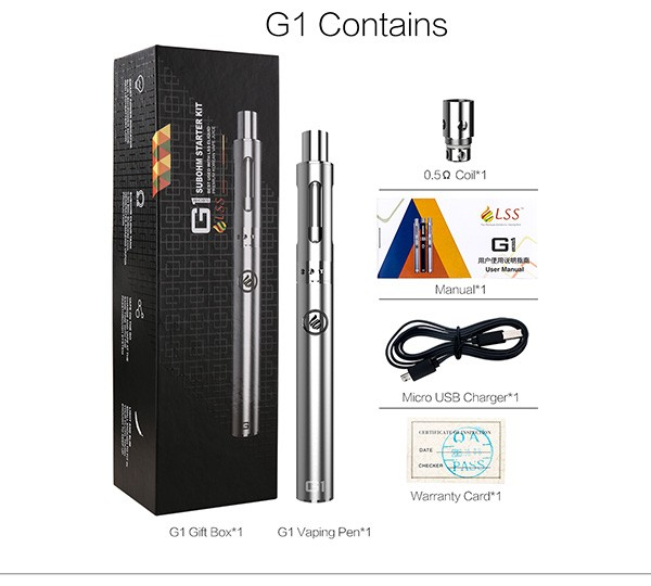 LSS G1 Subohm Kit Vape Pen Kit 0.5ohm 650mah Best Seller starter kits