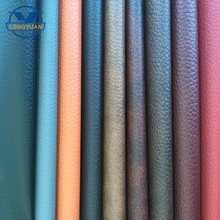 Paper grain semi pu leather for bags