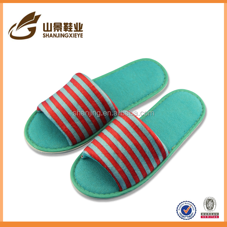 beautiful stripe ladies shoe 2016 for rubber spring season slipper