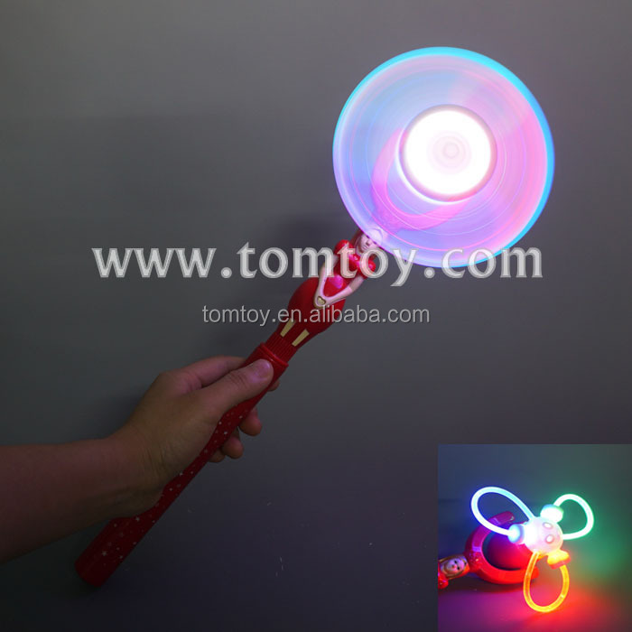 Plastic LED Light Up Princess Fairy Windmill Wand for Girls