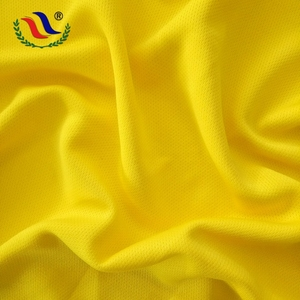 Factory Yellow Breathable Shoe Dry Fit Mesh Dyed Fabric