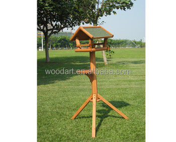 wholesale cheap wild wooden bird feeder station house indoor outdoor