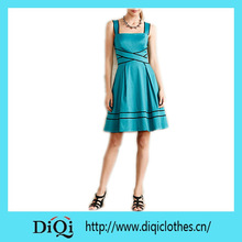 American Style Women Dresses Classic Women Fashion Dresses Knee Length Women Apparel
