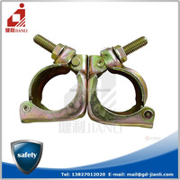 Swivel clamp for scaffolding connection