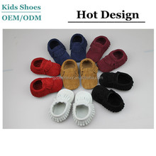 Fashion baby boys size 4 baby dress newborn soft sole handmade cheap leather shoes crib wholesale babies leather moccasins shoes