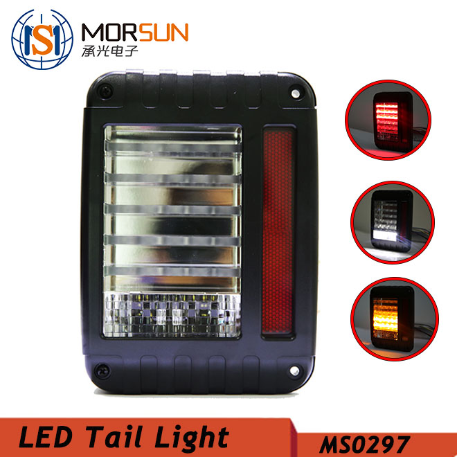 Jeep Tail light 12v chrome black led tail light turn signal light