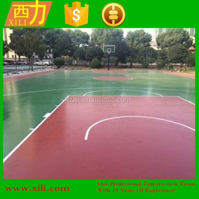 Water-based Tennis Court Flooring used for University NEW Developed