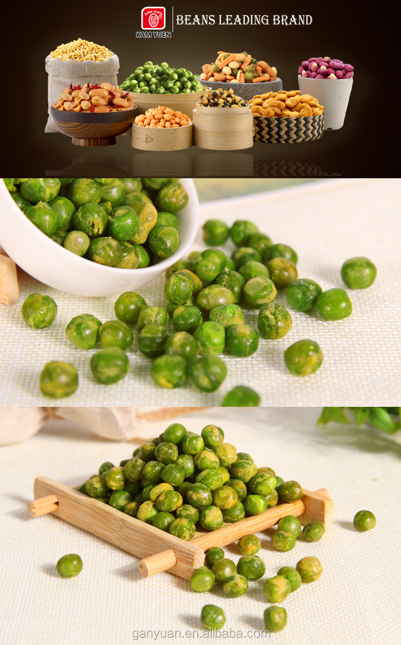 Chinese fried original flavor green peas snack food