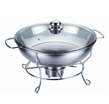 CD003 2017 New Glass Lid Stainless Steel Chafing Dish