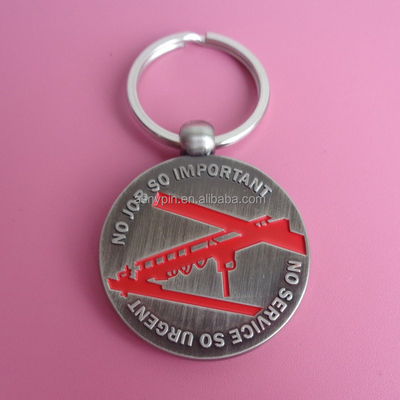 engineering safety first metal key ring