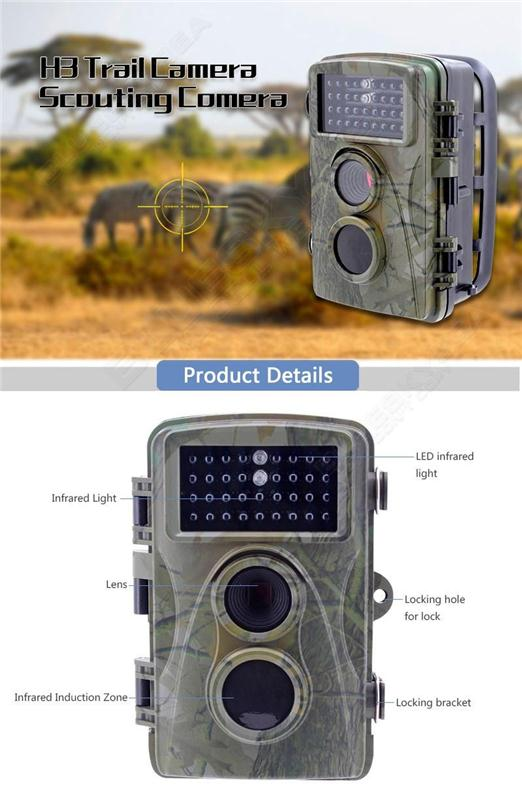 H3W 8MP PIR Night Vision IR Game Hunting Trail Security HD Camera Cam DVR Video
