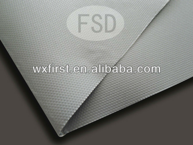 Silicone coated fiberglass cloth fabric both sides 0.25mm to 0.40mm thickness