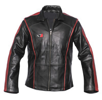 Mass effect 3 n7 Commander Shepard real leather jacket.