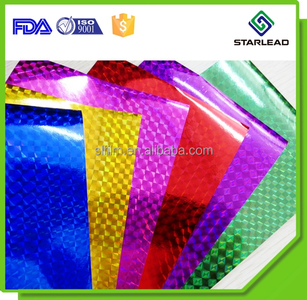 Factory Price Colorful Metallized Paper, Metallic Laser Paper for Gift packing