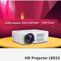 2100 Lumens Projector LED33 3D Home Theater LCD Proyector Full HD 1080P