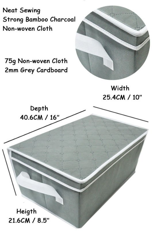 Decorative Collapsible non-woven Fabric Storage Boxes With Lids