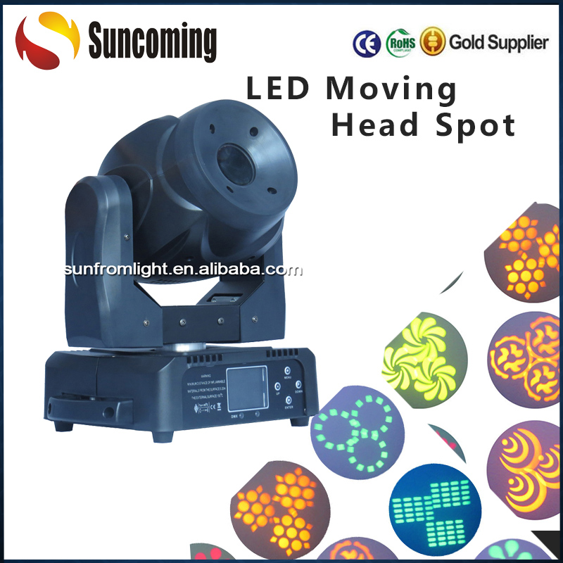Suncoming Chinese 60 Watt Changeable Zoom Led Moving Head Wah Spot Light for Disco Nightclub Decoration