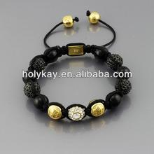 Wholesale 2014 latest products fashion european bead braided cord bracelet from china
