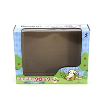 Game toy paper packaging box with window for children