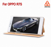 Hot selling ! PU leather case for Oppo R7S ,Wholesale pu flip leather case for Oppo R7S case cover