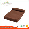 Hot Selling memory foam luxury pet dog bed cushion with pillow