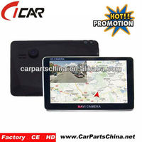 720P HD dual cam AV IN cable 5'' touch screen gps navigation mini spy-camera