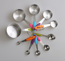 10pcs stainless steel measuring spoon and cup set
