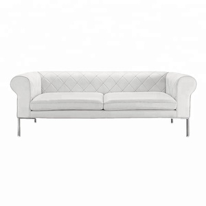 high quality french italy white chesterfield leather sofa made in china
