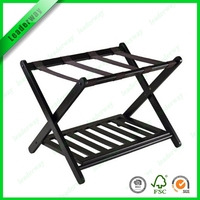 Eco-friendly hotel bedroom solid wood luggage rack