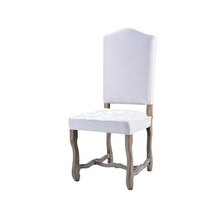 High Quality European Style Comfortable High Back Whitemodern Curve Wooden Dining Chair