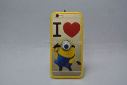 Wholesale 3d despicable me minions silicone rubber case for iphone 5 low price