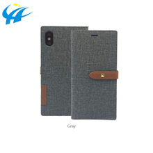 luxury leather phone case with wallet mobile phone flip cover case