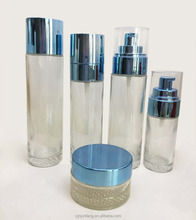 Wholesale cheap 40ml 80ml 100ml 120ml empty glass bottle and jar for cosmetic