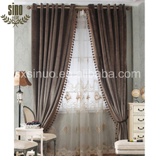 Romantic Free Sample Best Price blackout drapery curtain