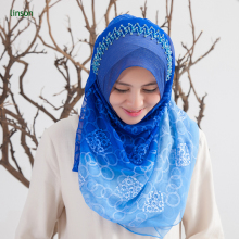 Hot Sale Hand Rolled Hemming Square Muslim Shawl hijab tudung