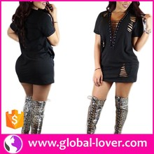 Wholesale Women Party Wear Black Adult Hot Sexy Photos Short Mini Dress Form