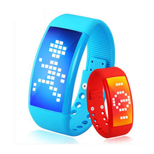 LED 3d smart bracelet silicone wristband multi-function personalized usb flash drive smart watch