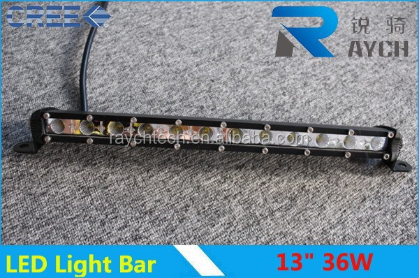 Auto Parts blue led mini 36w 13'' single row cre e chips led bar mini led light bar off road