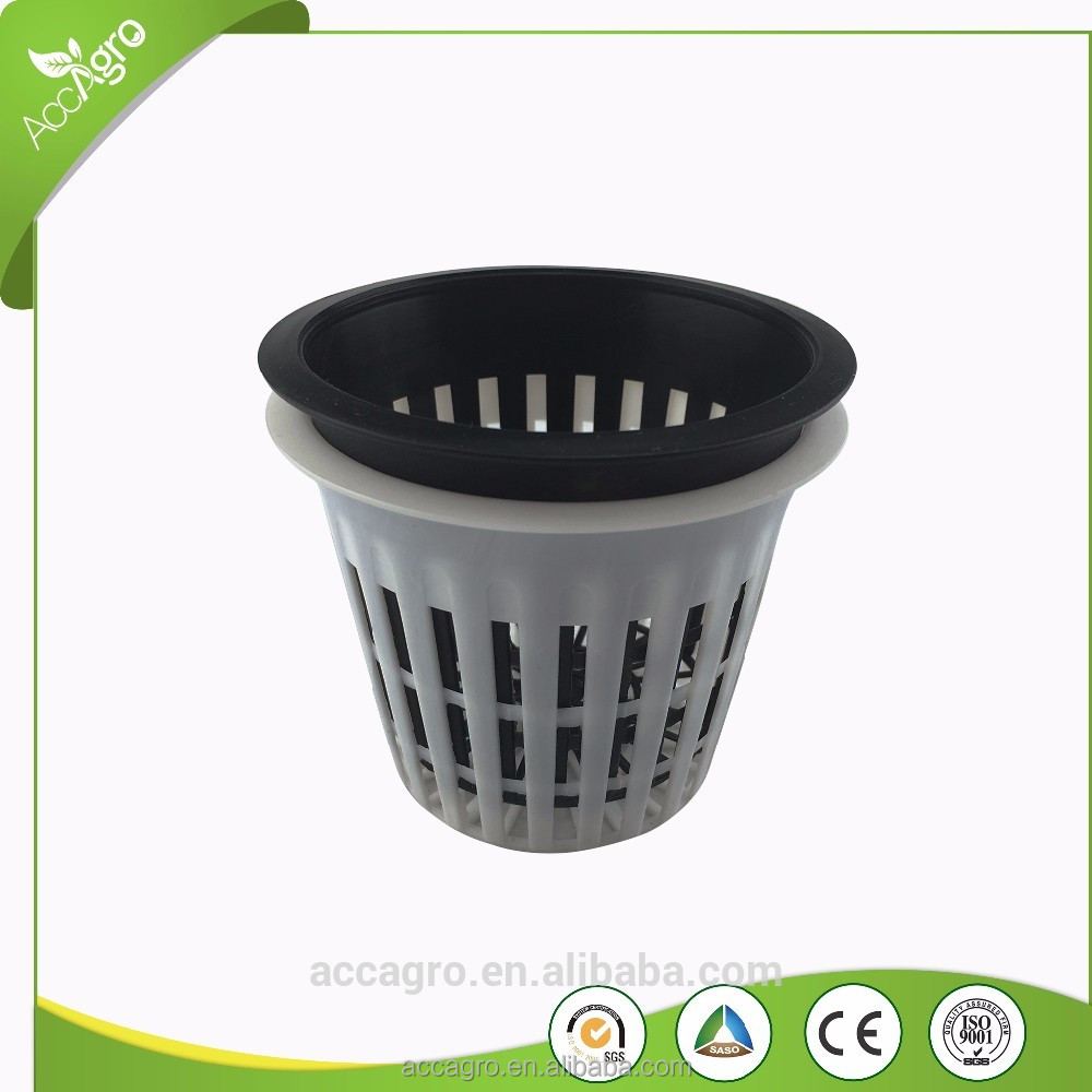 Net Pot Cups Black Hydroponics Hanging Plants Pots