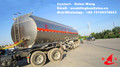 oil petroleum tanker trailer, aluminum tank semi trailer with 3 axles