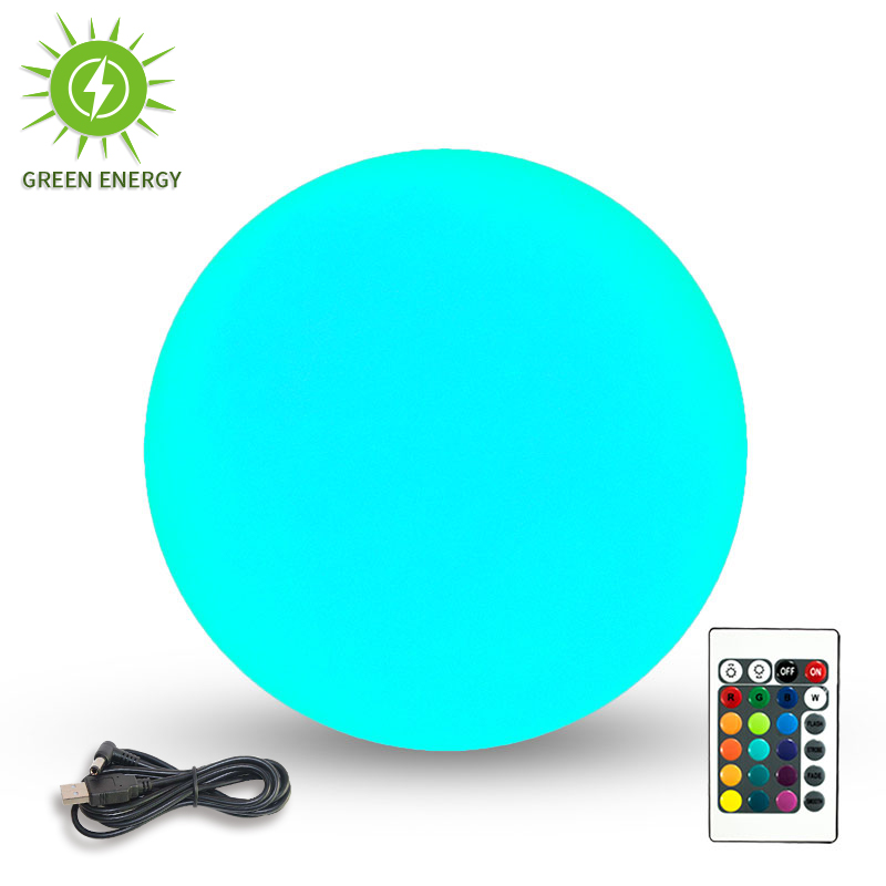 30cm PE plastic waterproof IP68 solar led ball <strong>light</strong>,solar charging, RGBW <strong>light</strong> with remote control