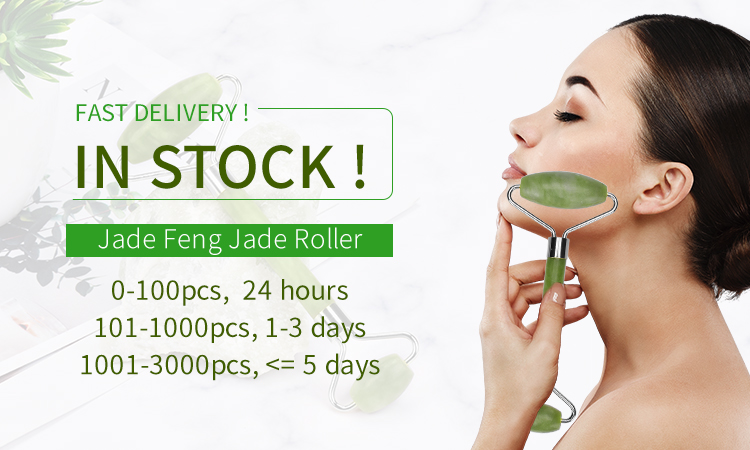 Jade Gold Beauty Bar Electric Roller Massage for Face Lifting Slimming Relax Release Stress Pink Green Jade Rollers